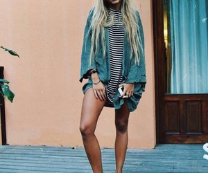 blonde, stripes, and fashion image