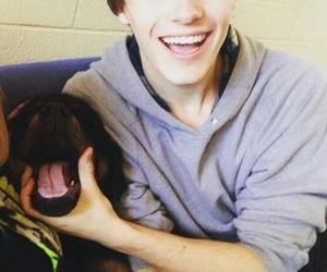mitchell hope, dog, and boy image