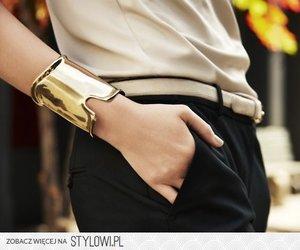 bracelet, fashion, and golden image