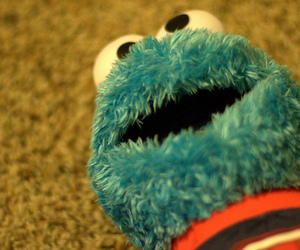 blue, cookie monster, and doll image