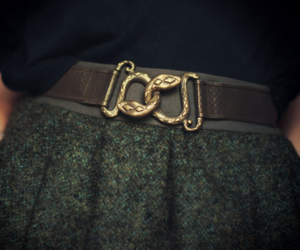 belt, skirt, and slytherin image