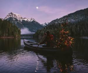 mountains, christmas, and nature image
