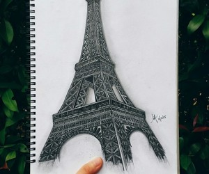 architecture, drawings, and paris image