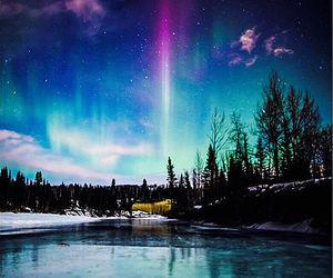 northern lights, nature, and light image