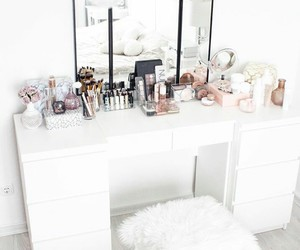 make up, white, and goals image