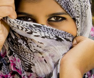 eyes, hijab, and lol image