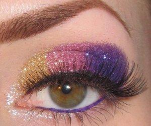 eyeshadow, glitz, and make-up image