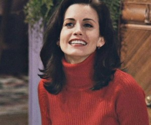 monica, monica geller, and red image