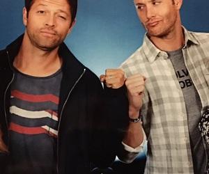 misha collins, Jensen Ackles, and supernatural image