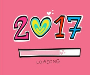 2017, new year, and loading image