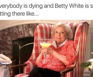betty white, funny, and lol image