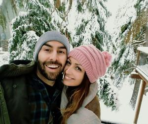 boyfriend, girlfriend, and winter wonderland image