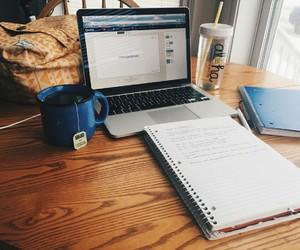study, homework, and tea image