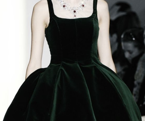 dress, green, and moda image