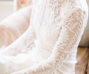 dress, lace, and fashion image