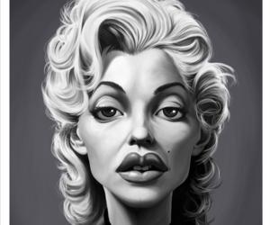 blonde, marylin moroe, and caricrratur image