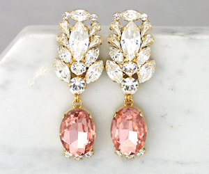 bridal, jewelry, and long earrings image