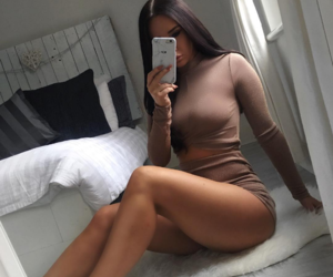 bandage, girl, and beige image