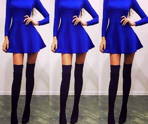 blue, elegant, and dress image