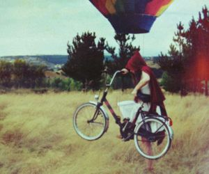 balloon, bike, and girl image