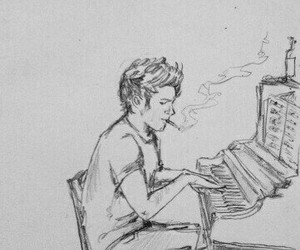 one direction, art, and drawing image