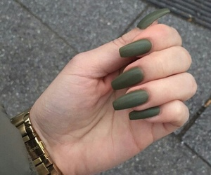 nails, green, and tumblr image