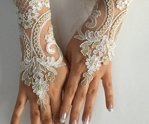 etsy, fingerless glove, and lace gloves image