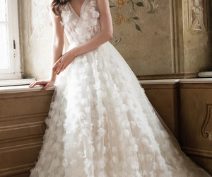 dress, bride, and marriage image