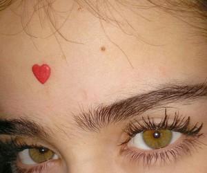 eyes, heart, and grunge image