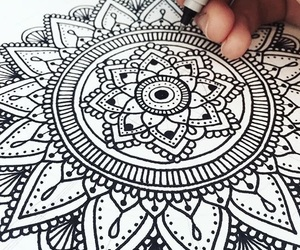 mandala and zentangle image