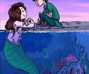 fluff, mermaid, and peter pan image