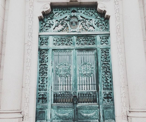 architecture, blue, and door image