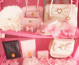 kawaii, pink, and bag image