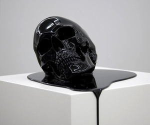 skull, black, and art image