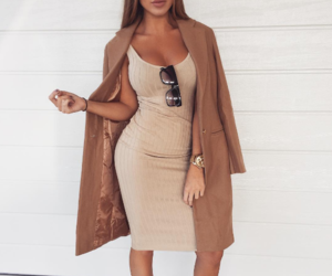 body, brown, and cardigan image