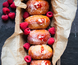 food, donuts, and raspberry image