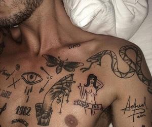 beard, boys, and tattoo image