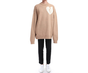 broken heart, sweater, and fashion image