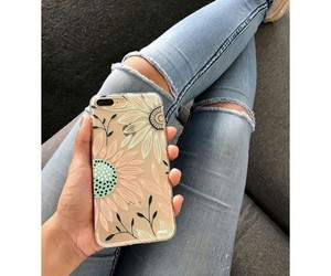 beauty, jeans, and phone image