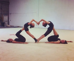 heart and gymnastics image