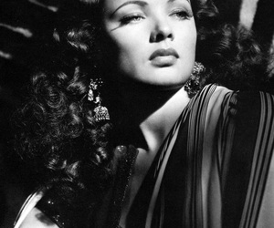 black and white, Gene Tierney, and vintage image