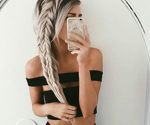 beauty, braids, and black image