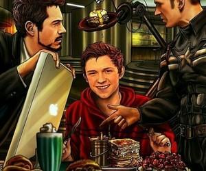 ironman, spiderman, and tonystark image