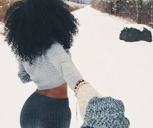 couple, winter, and goals image
