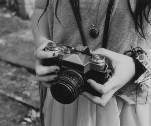 photography, girl, and camera image