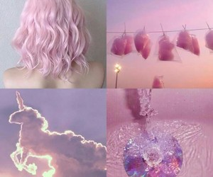 pink, unicorn, and hair image