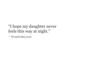 sad, daughter, and night image
