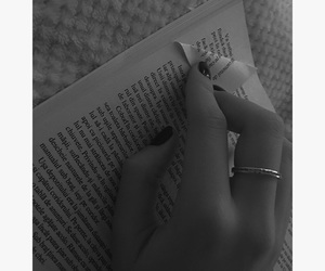 black and white, book, and cozy image