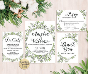 country wedding, etsy, and invitation image