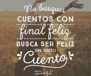 frases, cuento, and feliz image